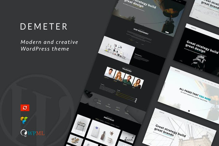 Thumbnail for Demeter - Una página Parallax WordPress Tema