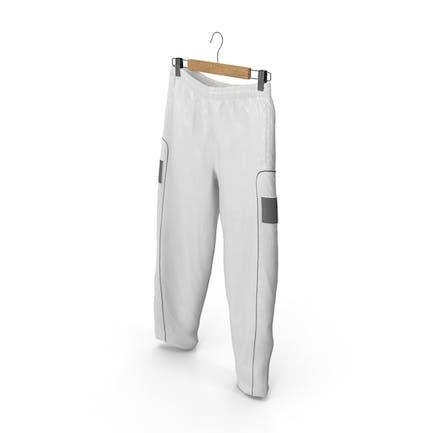 Pantalones Deportivos Blanco