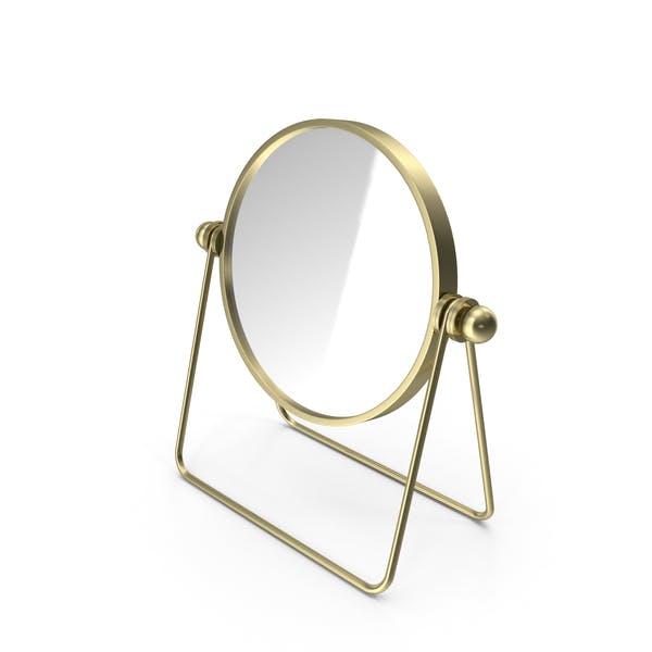 Espejo de mesa dorado