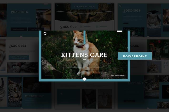 Thumbnail for Уход за котятами - Powerpoint Шаблон