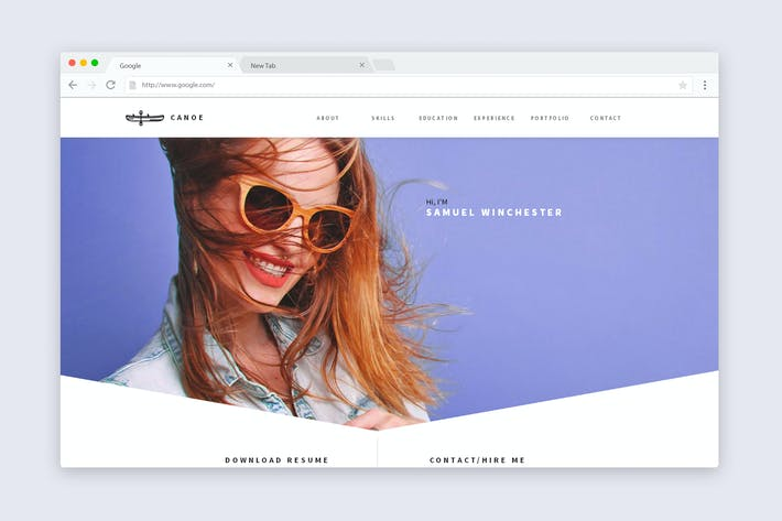 Cover Image For Canoe - CV Resume Personal Muse Template