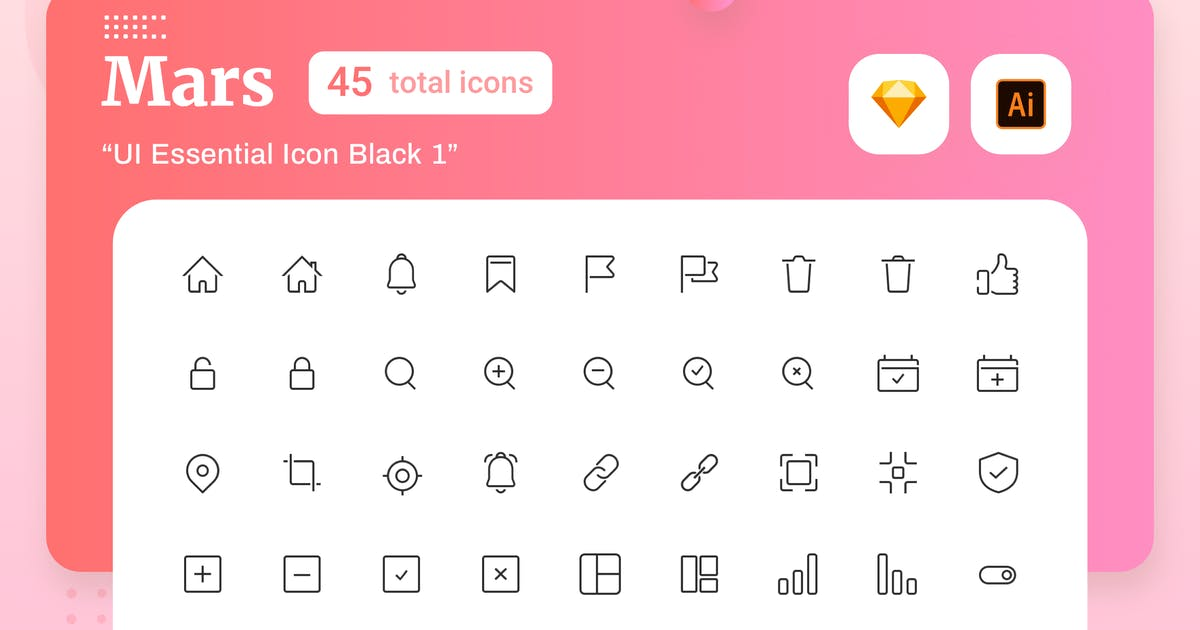 Download Mars - UI Essential Icon Black 1 by sudutlancip