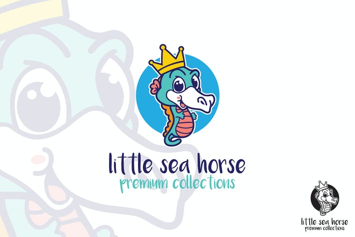 Thumbnail for Little Sea Horse Logo Maskottchen