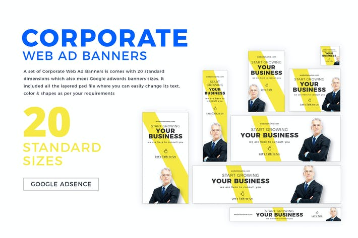 Thumbnail for Corporate Web Ad Banners