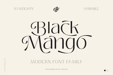 Black Mango Font - Modern Beauty Family