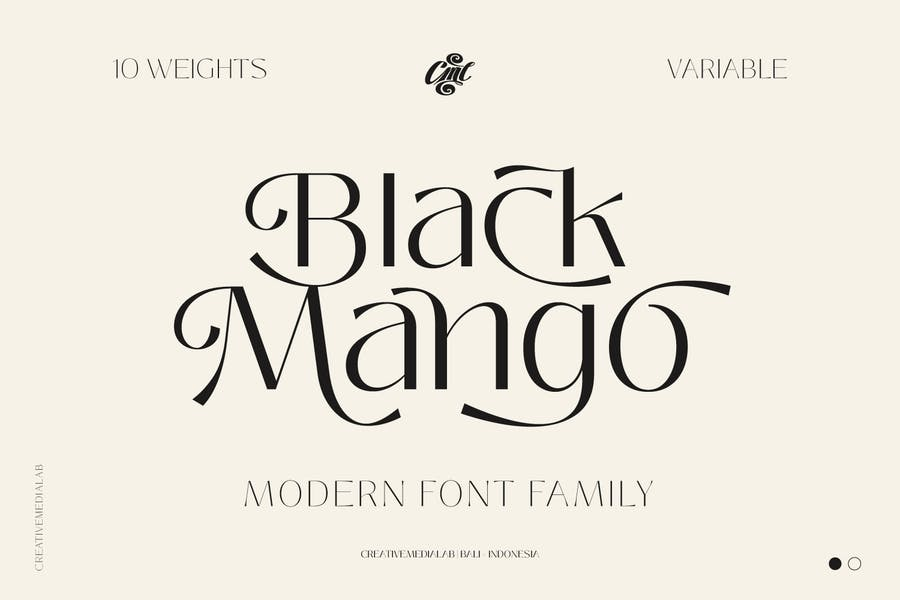 Fuente Mango Negro - Familia de Belleza Moderna