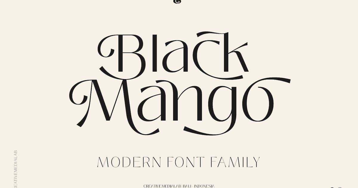 Download Black Mango Font - Modern Beauty Family by creativemedialab