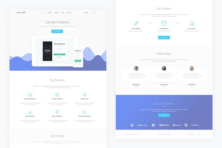 Thumbnail for Reclient — Popup Service PSD Template