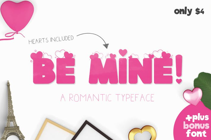 Thumbnail for Be Mine Font