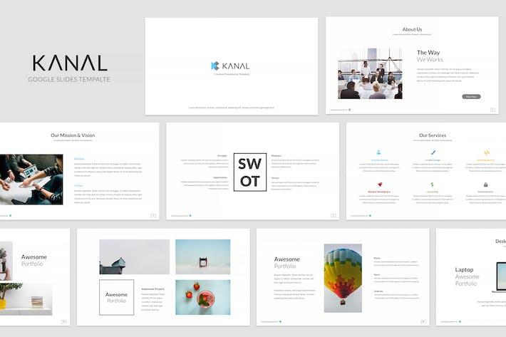 Cover Image For Kanal Google Slides Template