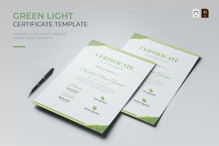 Thumbnail for Green Light | Certificate