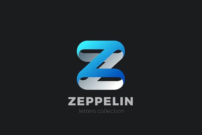 Letter Z Logo design 3D Ribbon style