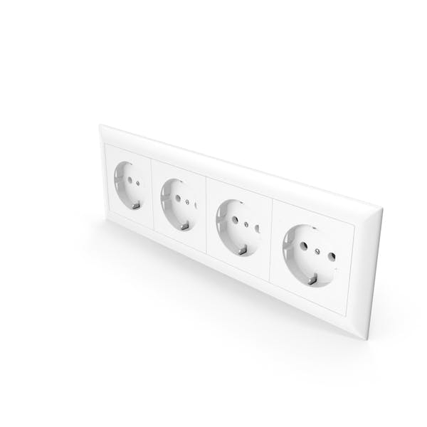Thumbnail for 4x Wall Socket Outlet