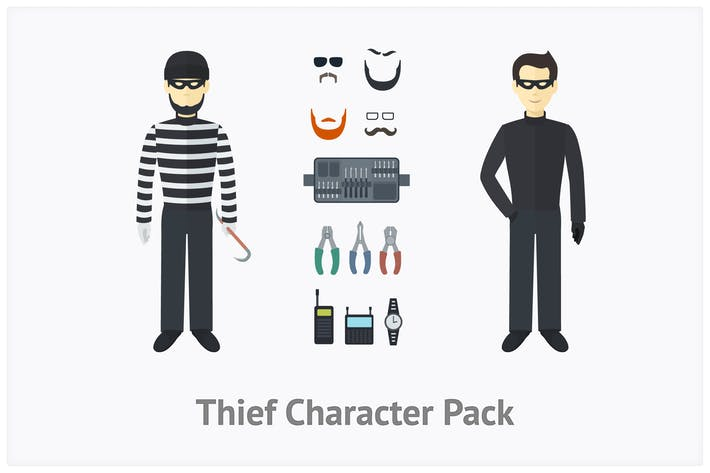 Thumbnail for Thief Character Set