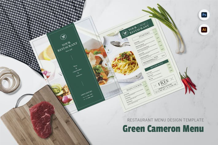 Green Cameron Restaurant Menu