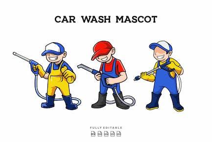 3 Carwash Mascot
