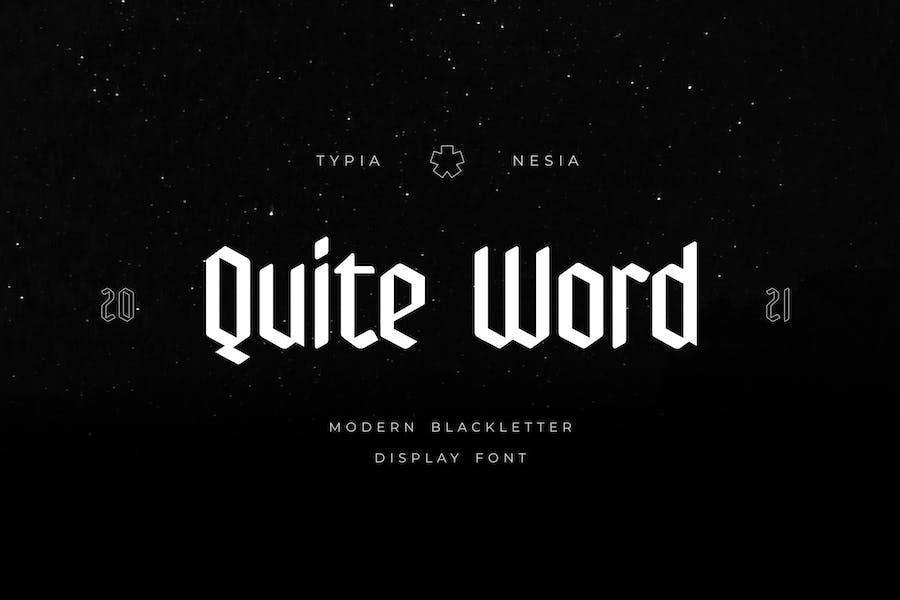 Bastante Word - Fuente de letra negra moderna