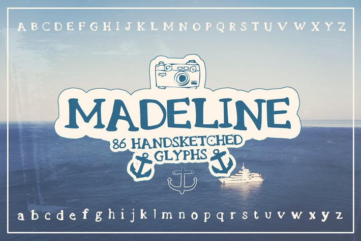 Thumbnail for Madeline Handsketched Font - Fuente