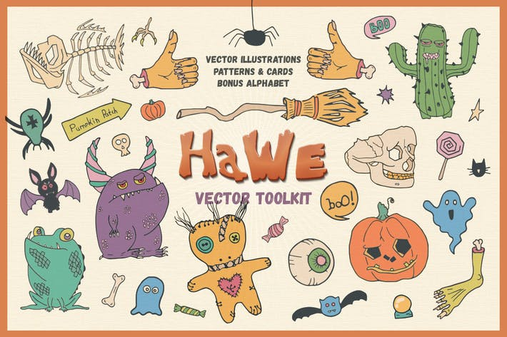 Thumbnail for HaWe: Halloween Vector Toolkit