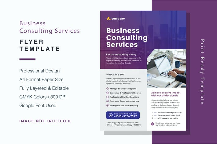 Thumbnail for Business Consulting Services Flyer Template