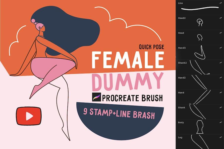 """Procreate brush """"Female dummy"""""""