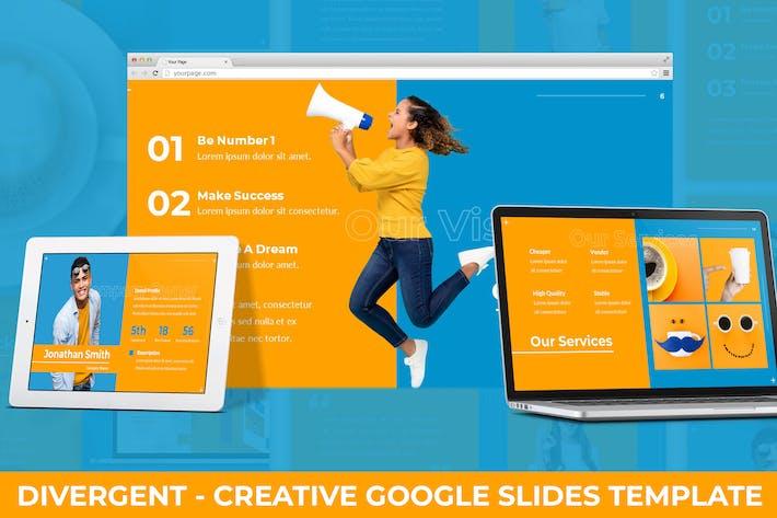 Thumbnail for Divergent - Creative Google Slides Template