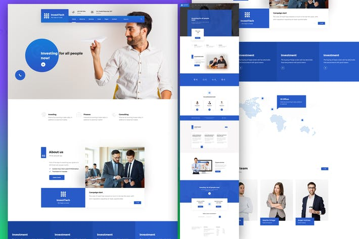 InvestTech - corporate and business PSD template