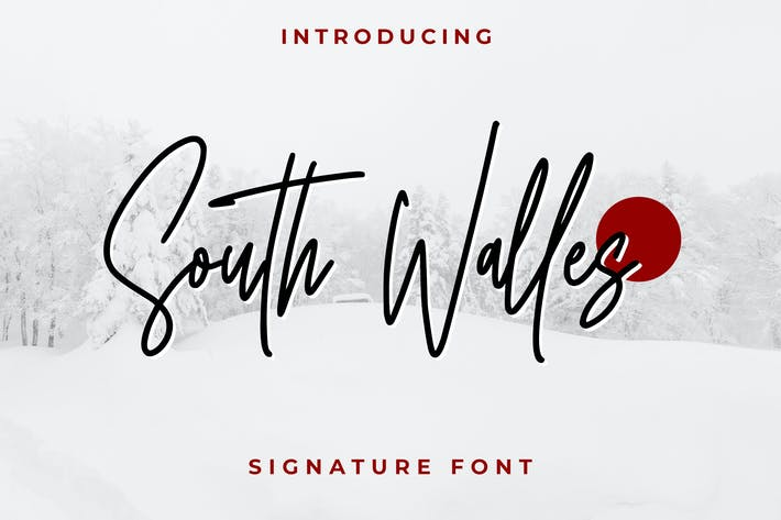 Thumbnail for South Walles - Signature Fonts