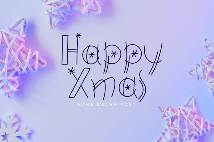 Thumbnail for Font dessinée à la main Happy Noël