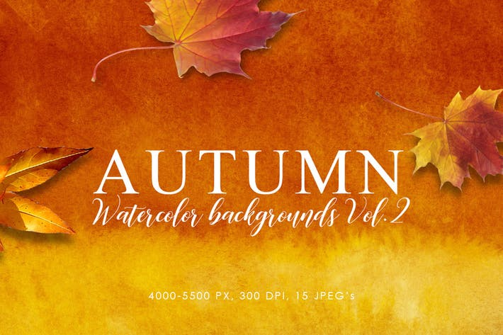 Thumbnail for Autumn Watercolor Backgrounds Volume 2