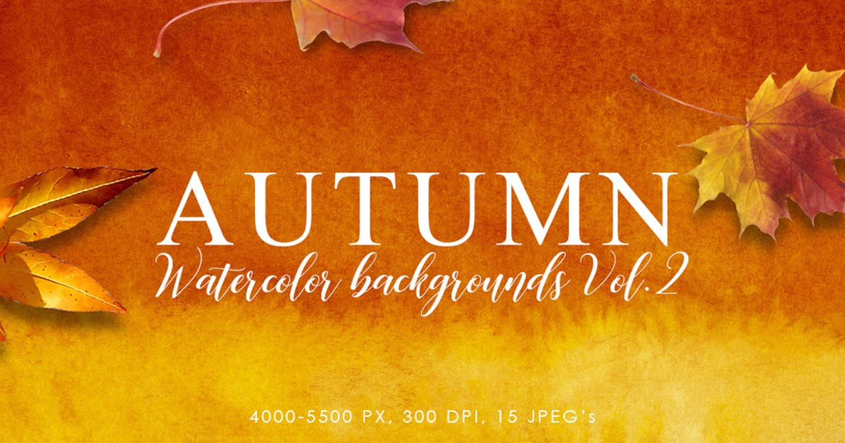 Download Autumn Watercolor Backgrounds Volume 2 by M-e-f