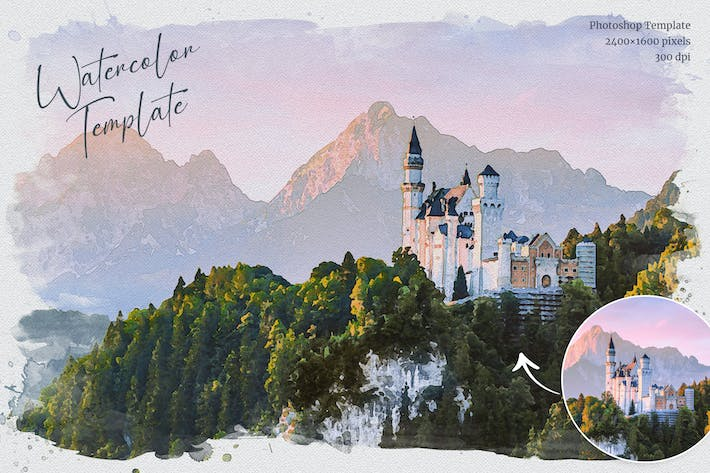 Thumbnail for Watercolor from Photo Template
