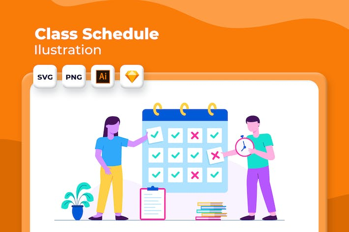 Thumbnail for Class Schedule - Onboarding Illustration