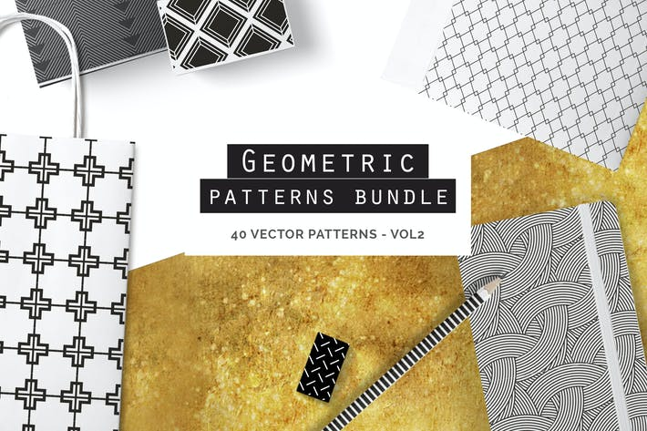 Thumbnail for Geometric Seamless Patterns Bundle