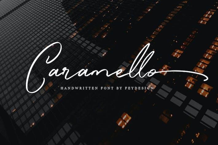 Thumbnail for Caramello - Police de script d'écriture manuscrite