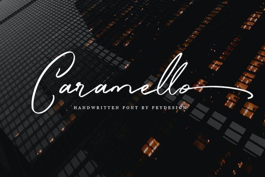 Caramello - Handwritting Script Font