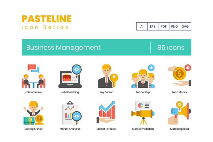 Thumbnail for 85 Business Management Color Flat Icon
