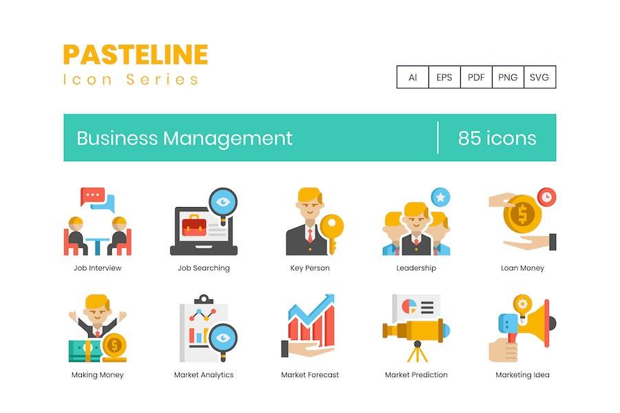 85 Business Management Color Flat Icon
