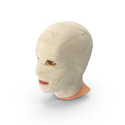 Bandagierter Kopf