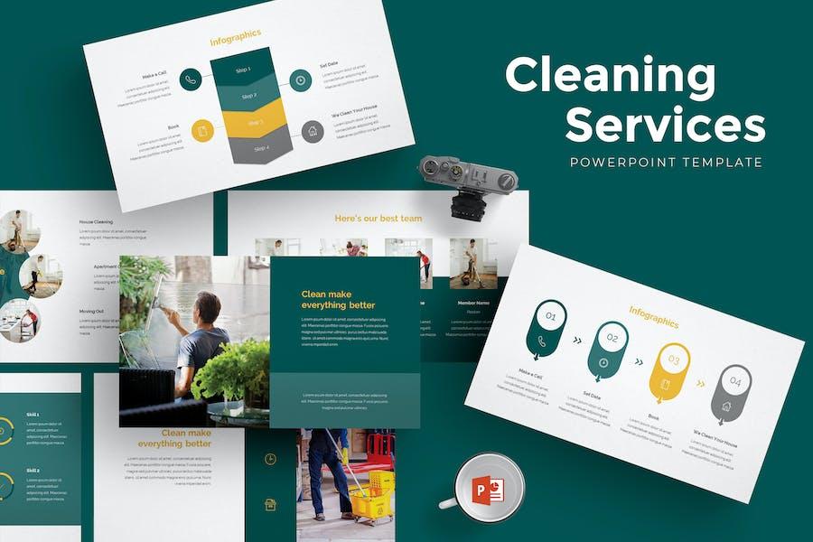Powerpoint-Vorlage für Reinigungsdienste
