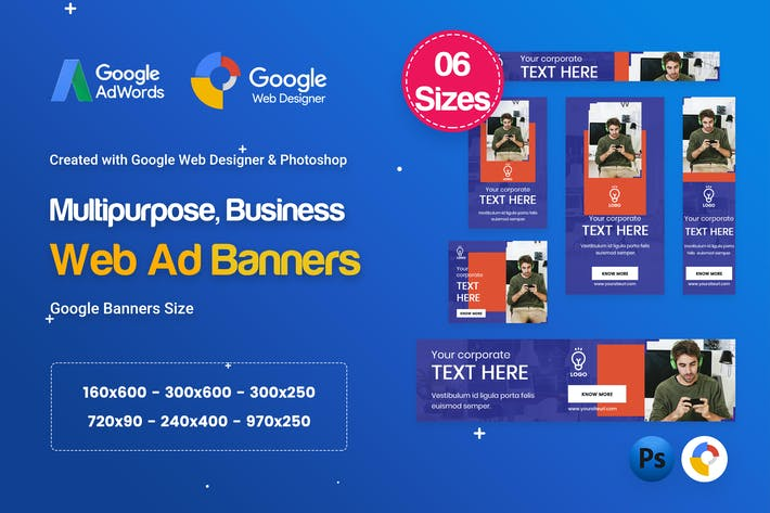 Thumbnail for Multi-Purpose Banners HTML5 D67 Ad - GWD & PSD