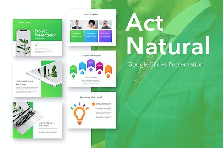 Thumbnail for Act Natural Google Slides Template