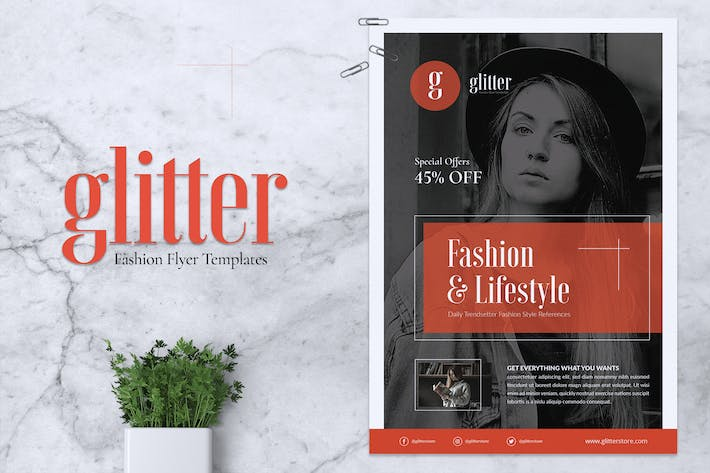 Cover Image For GLITTER Fashion Flyer