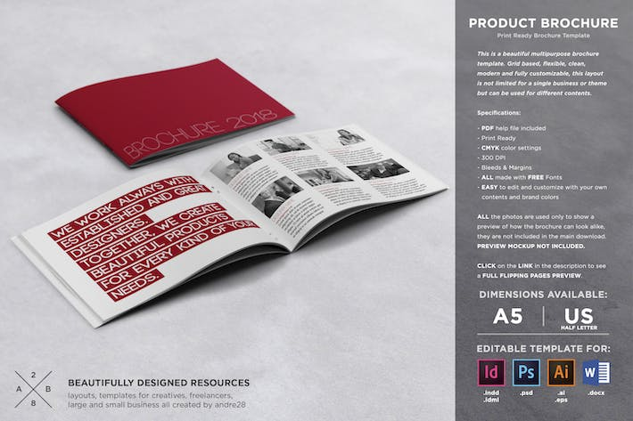 Thumbnail for Product Brochure Template