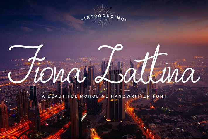 Thumbnail for Fiona Lattina - Fuente de script Monoline
