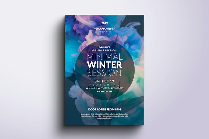 Thumbnail for Minimal Party Poster & Flyer