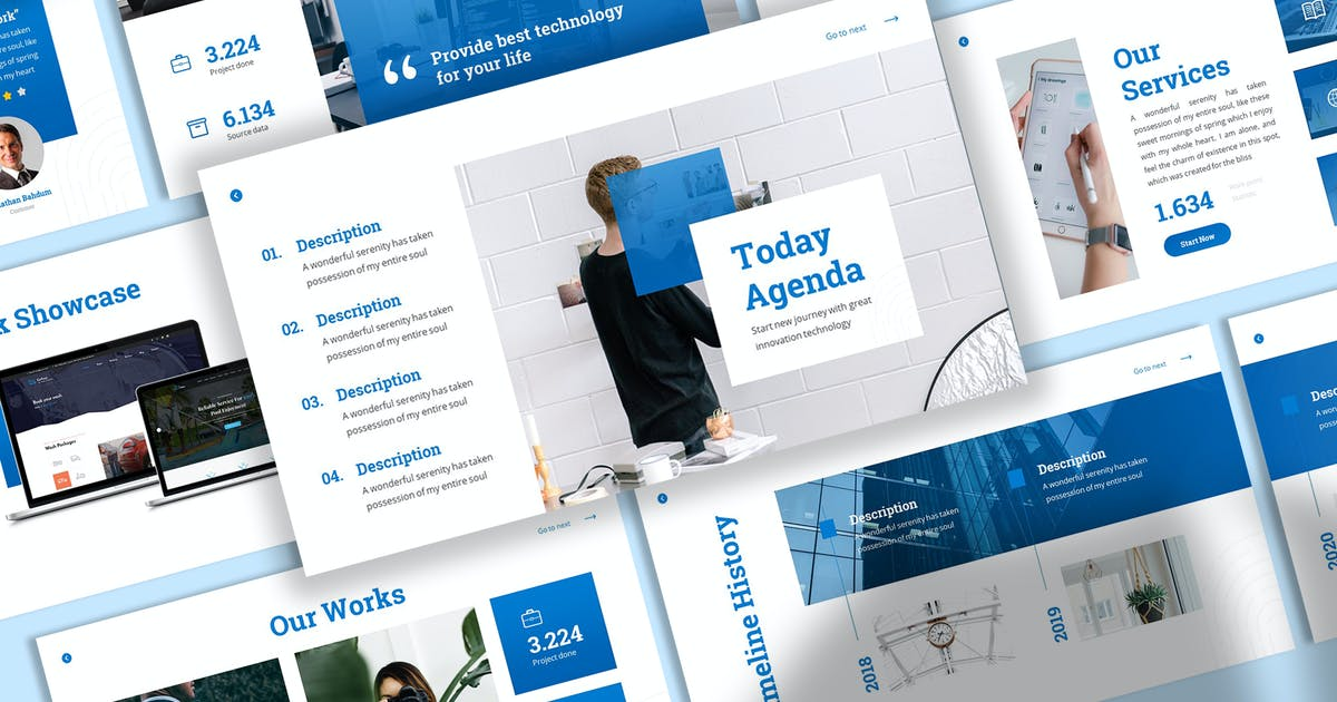Download Dustech - Startup Keynote Template by SlideFactory