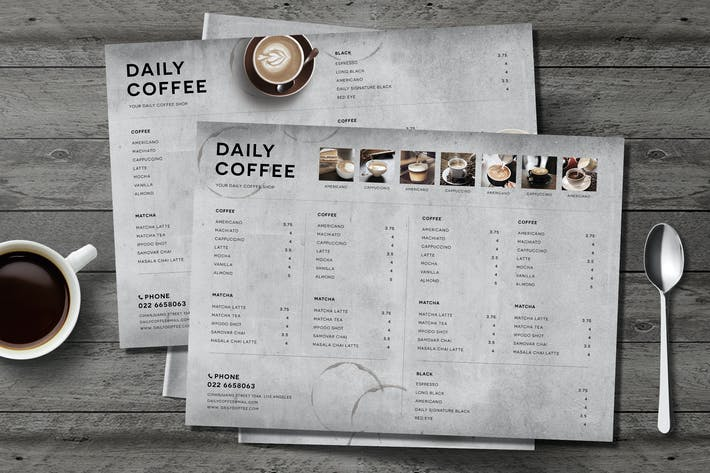 Thumbnail for Simple Coffee Menu Board