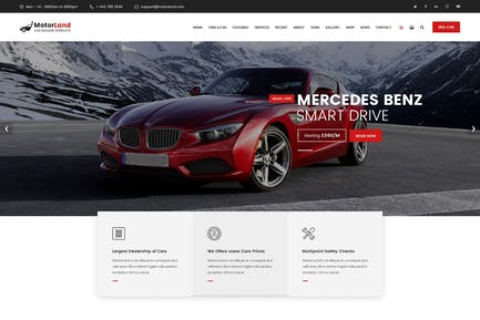 MOTORLAND - Car Dealer Template