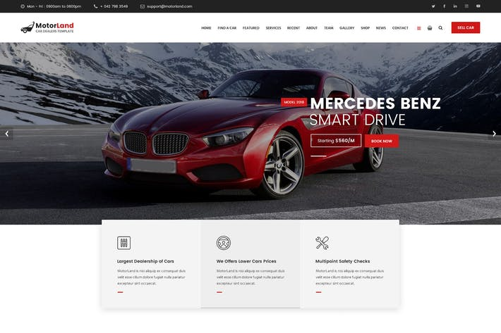 Cover Image For MOTORLAND - Car Dealer Template